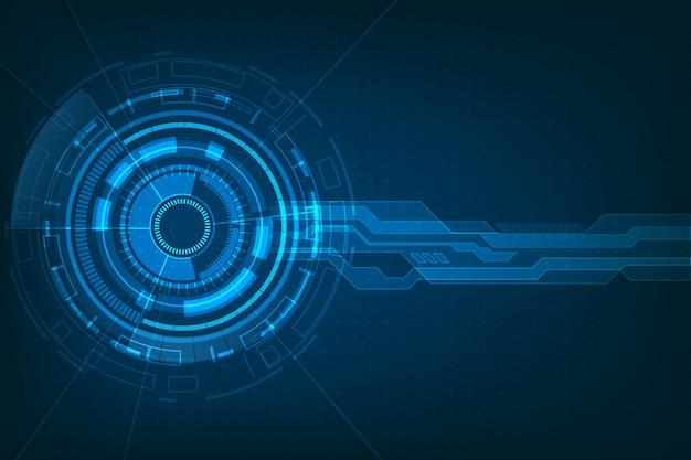 Abstrakter zukünftiger futuristischer virtueller hintergrund des schirmsystems hud ui gui