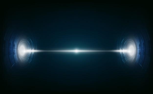 Abstrakter zukünftiger technologievisionsdesigninnovations-konzepthintergrund
