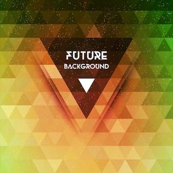 Abstrakter zukünftiger vektorhintergrund des dreiecks