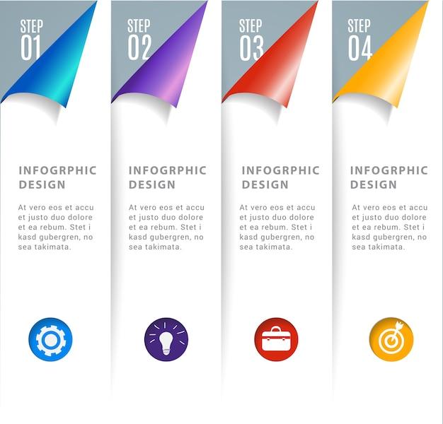 Abstraktes 3d modernes digitales schablone infographics.
