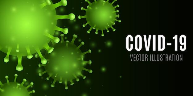 Abstraktes 3d-virus. corona-mikrobe. medizinisches konzept. krankheitserreger. illustration