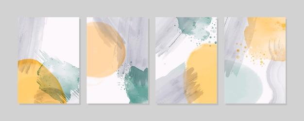 Abstraktes aquarell deckt design