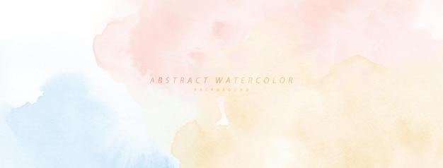 Abstraktes aquarell handgemalt für den hintergrund. regenbogen-aquarellflecken-vektortextur ist ideal für elemente im dekorativen design von header, cover oder banner, pinsel in der datei enthalten. Premium Vektoren