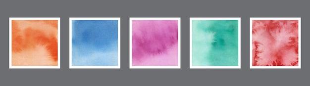 Abstraktes aquarell-textur-set