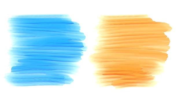 Abstraktes aquarellpinsel-strichfarbensatz