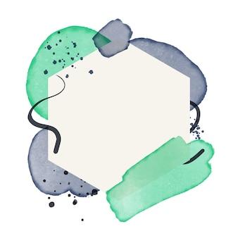 Abstraktes aquarellrahmendesign