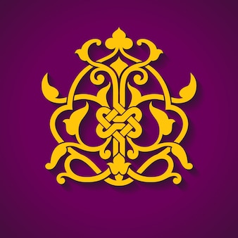 Abstraktes arabisches symbol