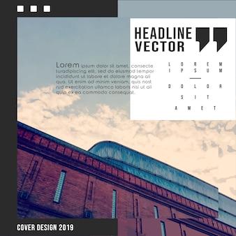 Abstraktes architekturhintergrunddesign für fahne, druckprodukte, flieger, plakat