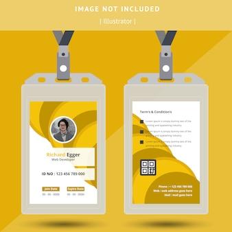 Abstraktes ausweis-design