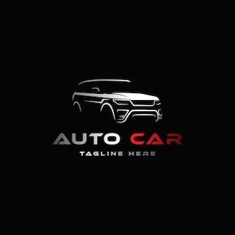 Abstraktes autologo-designkonzept automobilautovektor-designschablone