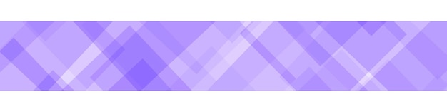Abstraktes banner aus durchscheinenden quadraten oder rauten in lila farben
