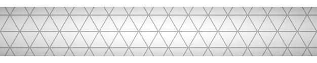 Abstraktes banner aus kleinen dreiecken in grauen farben