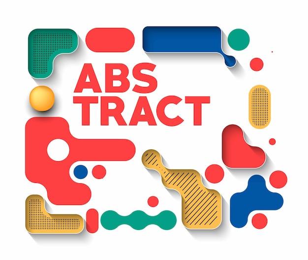 Abstraktes banner-lego-kunstplakat mit platz für ihren text, vektor-illustration design.