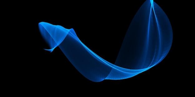 Abstraktes banner mit einer fließenden blauen welle