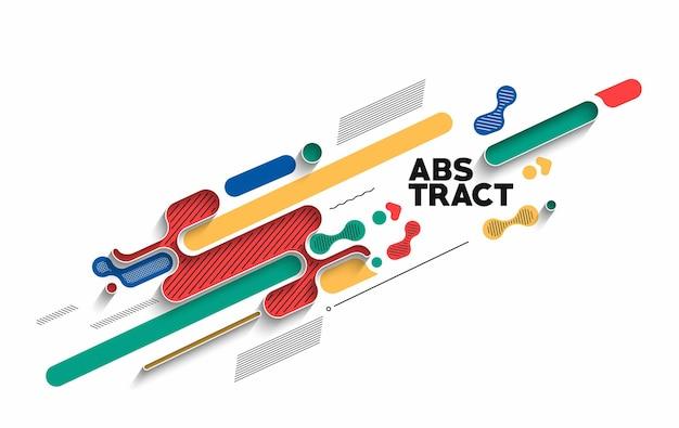 Abstraktes banner-poster mit platz für ihren text, vektor-illustration design-formen.
