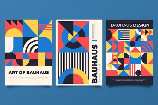 Abstraktes bauhaus-cover-set