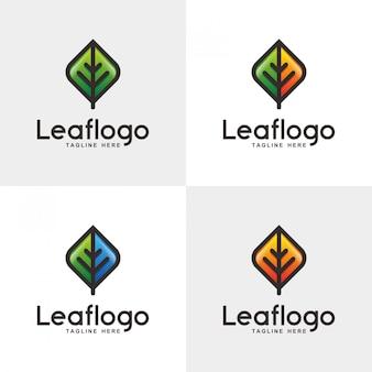 Abstraktes blatt-logo-design