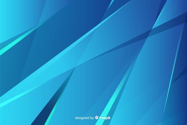 Abstraktes blau formt hintergrunddesign