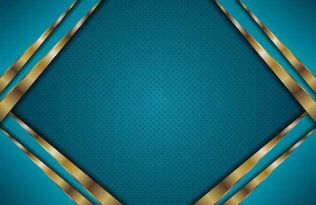 Abstraktes blau mit goldener deckschicht