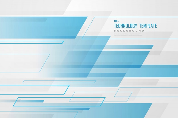 Abstraktes blau und weiß des futuristischen technologieschablonenüberlappungs-designhintergrundes.