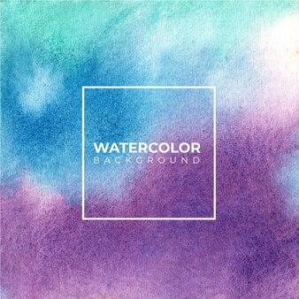 Abstraktes blaues aquarell auf weißem hintergrund. es ist eine hand gezeichnet.