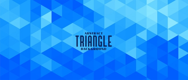 Abstraktes blaues dreieck geometrisches musterfahnenentwurf