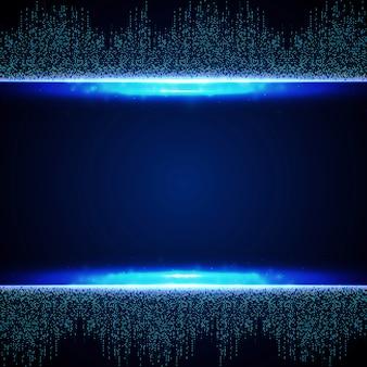 Abstraktes blaues futuristisches des quadratischen verbindungsmusterhintergrundes