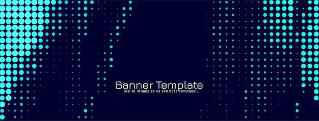 Abstraktes blaues halbtonfahnen-designvektorhintergrund