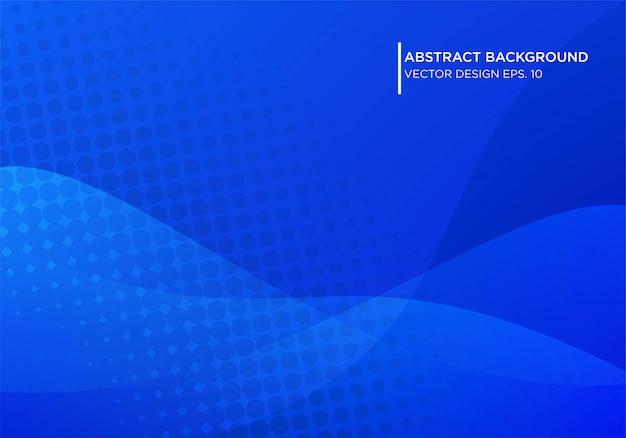 Abstraktes blaues hintergrunddesign mit moderner form concpet