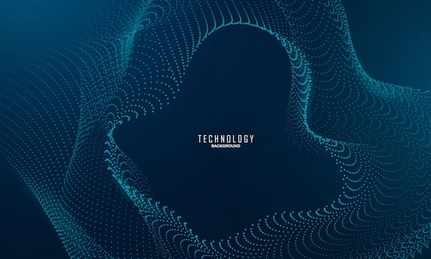 Abstraktes blaues hintergrundplakat mit dynamik. technologie-netzwerk vektor-illustration.