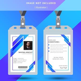 Abstraktes blaues identifikations-karten-design