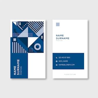 Abstraktes blaues konzept für visitenkarteschablone