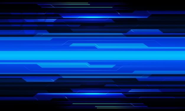 Abstraktes blaues licht cyber-schaltung geometrisches design moderner futuristischer technologie-hintergrundvektor