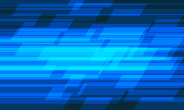 Abstraktes blaues licht geometrisches geschwindigkeitsmusterdesign moderner futuristischer technologiehintergrund.