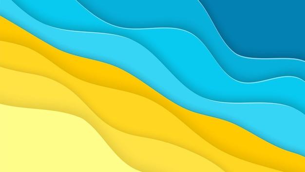 Abstraktes blaues meer und strand