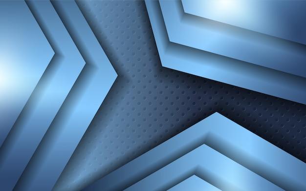 Abstraktes blaues metall formt hintergrund
