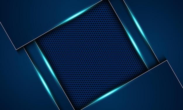 Abstraktes blaues metallic auf halbtonhintergrund. design für ihr banner.