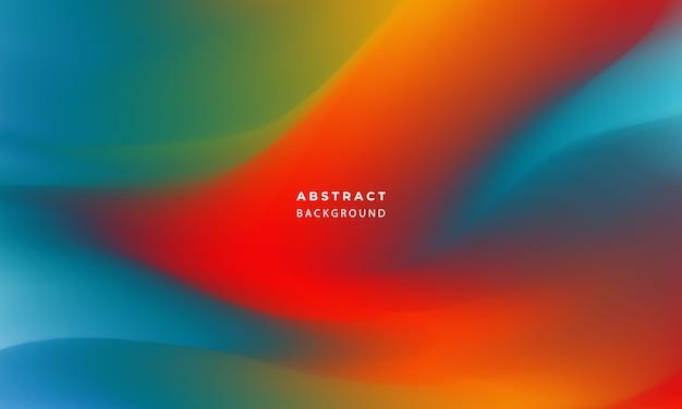 Abstraktes blaues orange gradientenhintergrund-ökologiekonzept für ihr grafikdesign,