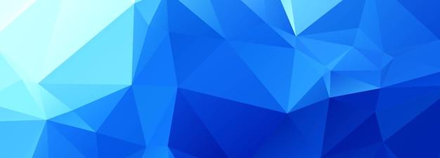Abstraktes blaues polygon