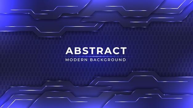 Abstraktes blaues und dunkles hintergrunddesign mit glänzendem lichteffekt