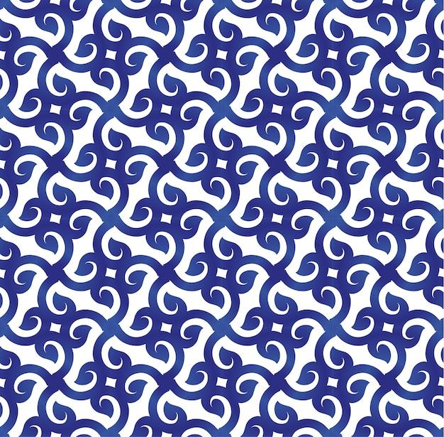 Abstraktes blaues und weißes muster