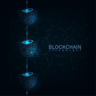 Abstraktes blockchain-technologiekonzept.