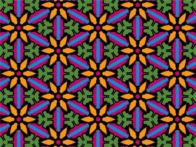 Abstraktes blumenhintergrundmuster blumenhintergrundmuster wiederholen blumenmuster mosaikmuster