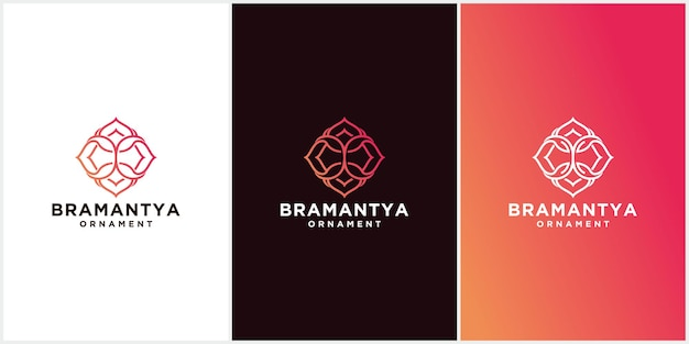 Abstraktes blumenlogo, schönes blumenikonenschablonenvektordesign, logo für kosmetik, hotel, schönheitssalon
