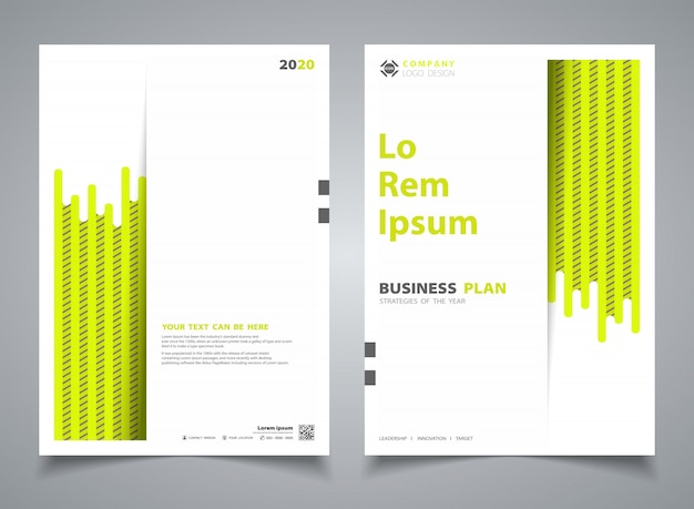Abstraktes broschürengrün mit streifenlinie