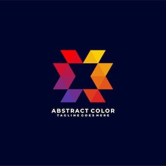 Abstraktes buchstabenfarblogo-design