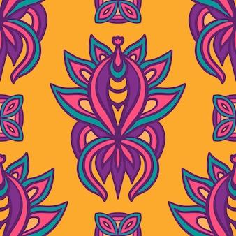 Abstraktes buntes festliches ethnisches geometrisches stammes-muster