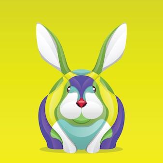 Abstraktes buntes kaninchen