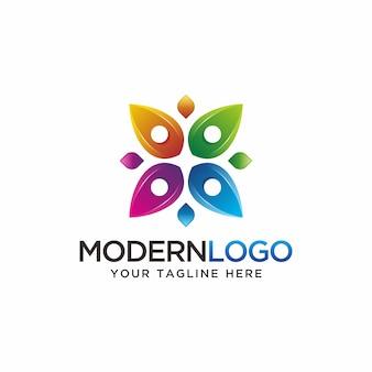 Abstraktes buntes logodesign