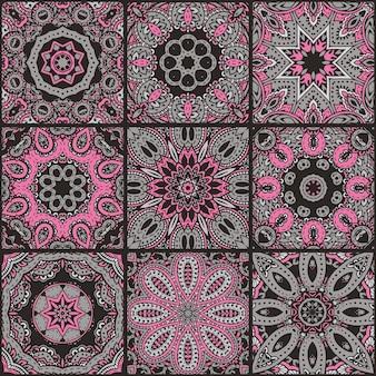 Abstraktes buntes patchwork nahtloses muster, ethnische ornamente., arabische, indische motive